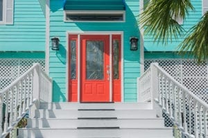 Nice red door after staging