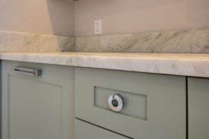 Master bath detail on cabinets
