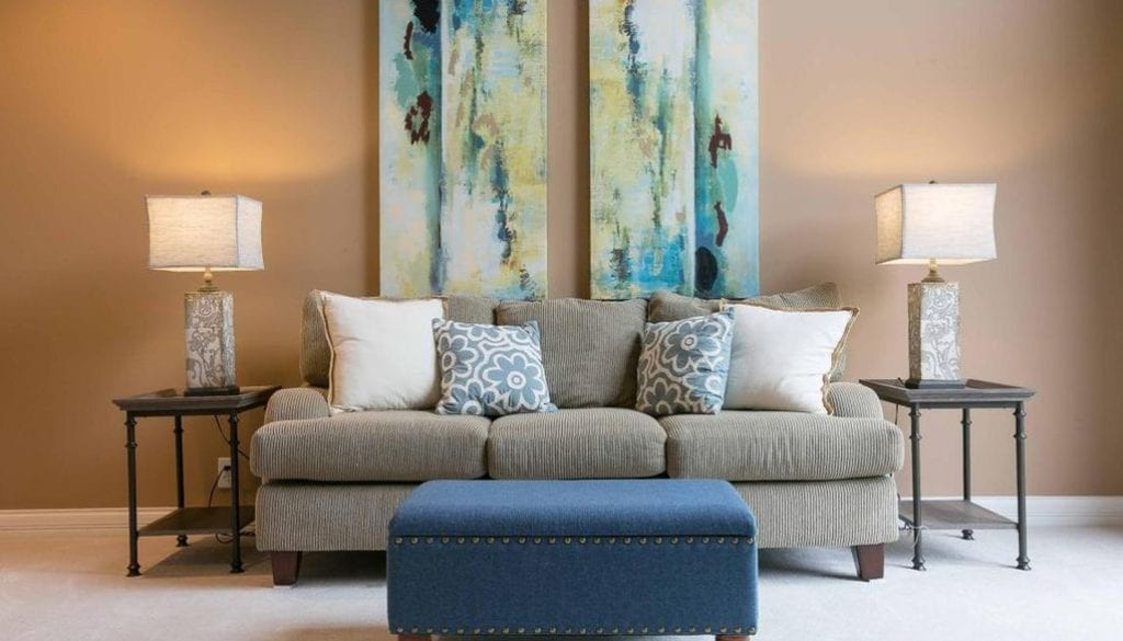 Interior design living area for home staging