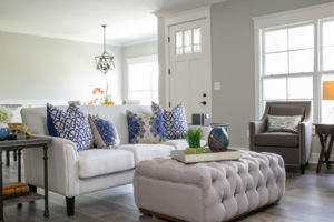 Home staging in Louisville Kentucky. A well-designed and presentable living room