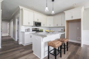 Home staging in Louisville. Kitchen furniture at island