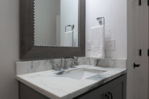 Home staging of a small bathroom in Louisville Kentucky